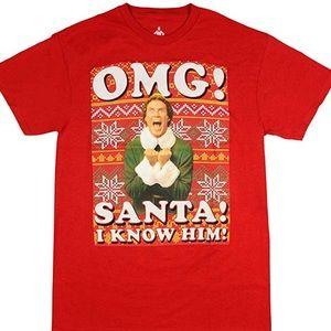 Buddy The Elf Christmas Short Sleeve T-shirt XXL